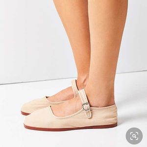 Urban Outfitters Cotton Mary Jane Flats
